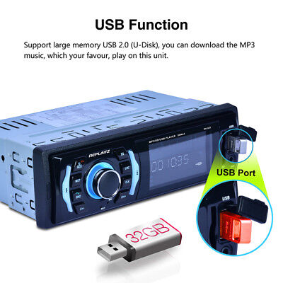 1DIN Car Player Bluetooth Voiture MP3 Player FM In-Dash Radio USB/TF HD 7 COLOE