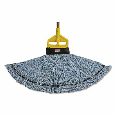 Maximizer Blended Mop Heads, Large, Blue, 6/Carton