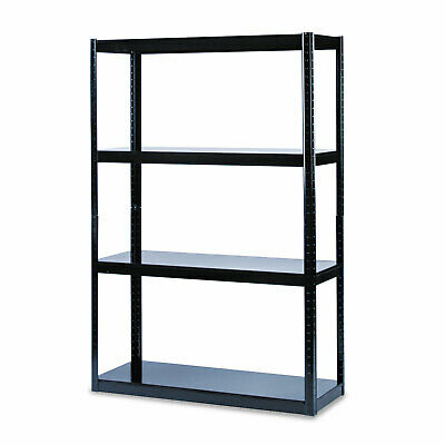 Boltless Steel Shelving, Five-Shelf, 48w x 18d x 72h, Black