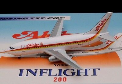 """""""NEW ! """" Inflight 200 ALOHA AIRLINES BOEING 737-200 N730AL"""