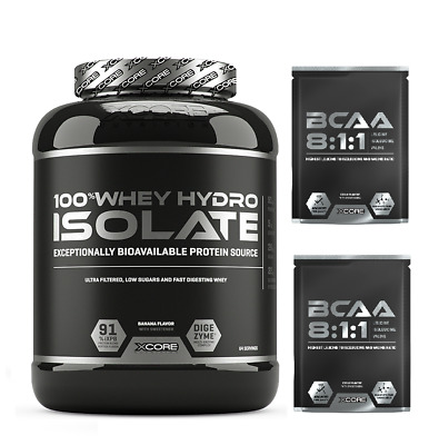 Xcore 100% PROTEINE ISOLATE Whey Hydro Isolate SS 2000g + 2 BCAA 811 OMAGGIO