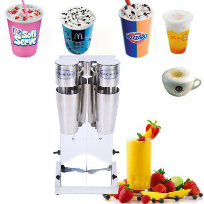 700ML x 2 Commercial Stainless Steel Milk Shake Machine Double Head Drink Mixer