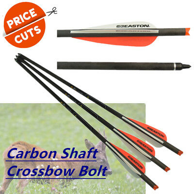 Complete Arrows Carbon Shaft Crossbow Bolt Changeable Points For Hunting 6 Pcs
