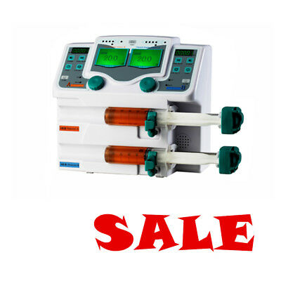 2 Channel Syringe Pump Injection Pump LCD Injector Pump Voice Alarm Clinic Safe