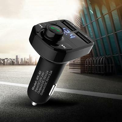Bluetooth FM Transmitter Wireless Radio Adapter MP3 Player Dual USB Car Charger