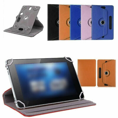 7/8/9/10inchAndroid Tablet Folio Leather Flip Case Cover Universal 360 Rotating.