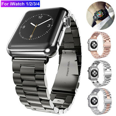 Stainless Steel Watch Band Strap for Apple Watch 38 42 44mm iWatch 4 3 Wristband