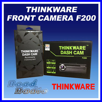 THINKWARE F200 Front Dash Camera Single Channel with Hardwiring Cable