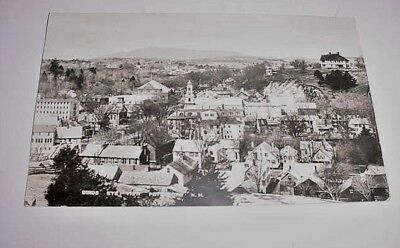 Antique Rppc Real Photo Postcard Birds Eye View Peterboro N. H. Postmarked 1914