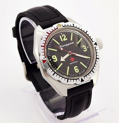 Vostok Wostok USSR 2409A diver amphibia military watch stainless steel 17 jewels