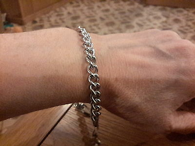 Brand new stainless steel 8mm wide 8.75 in long mens bracelet with gift box