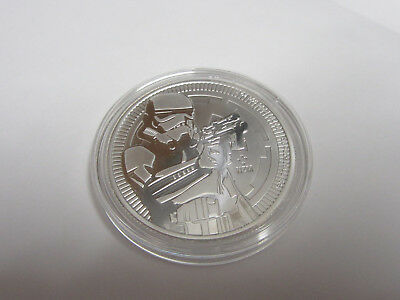 Niue 2 NZM Dollar 1 Troy Ounce Silver Coin Stormtrooper 2018