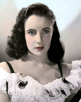 """ELIZABETH TAYLOR HOLLYWOOD ACTRESS MOVIE STAR 8x10"""" HAND COLOR TINTED PHOTOGRAPH"""