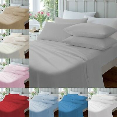 "THERMAL FLANNELETTE 100% COTTON FITTED SHEET 12""/30cm DEEP SINGLE DOUBLE KING"