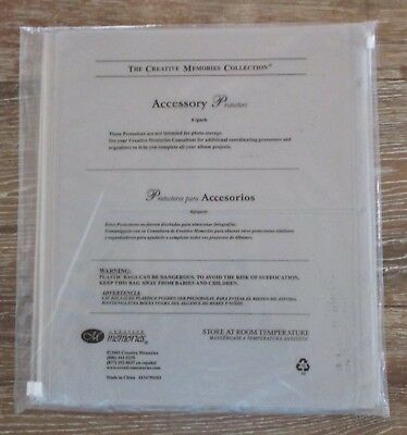 Creative Memories ACCESSORY Protectors with Zippers 6 Pack for 3 Ring Unused