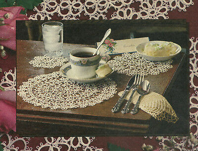 Doily Luncheon Set Tatting PATTERN INSTRUCTIONS from magazine 3 pieces c