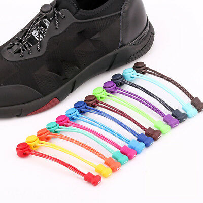 1PC No Tie Elastic Lock Lace System Lock Shoe Laces Shoelaces Runners Kids Adult