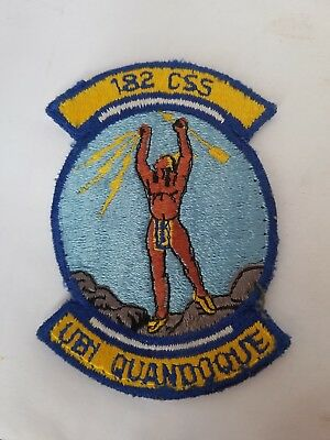 Vintage US Air Force 182 CSS UBI QUANDOQUE Patch