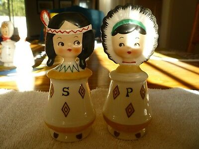 Holt Howard Like Indian Boy and Girl Salt and Pepper Shakers