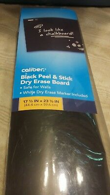 "CALIBER BLACK PEEL AND STICK DRY ERASE BOARD 17.5"" x 23.5"" MARKER INCLUDED"