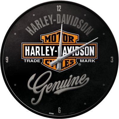 Nostalgic Art Wall Clock Harley Davidson Genuine