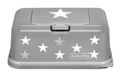 Funky Box Wet Wipes Box Grey With White Stars - New Design - Latest Design - NEW