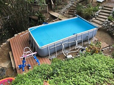 Intex 16x8x42 Rectangular Prism Frame Above Ground Swimming Pool