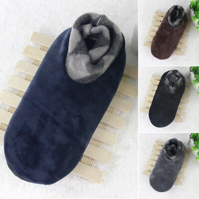 Men's Winter Warm Home Soft Fleece Thick Bed Sock Non Slip Slipper Floor Socks