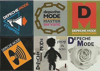 DEPECHE MODE stickers 6 STICKER SHEET official ex tour merchandise