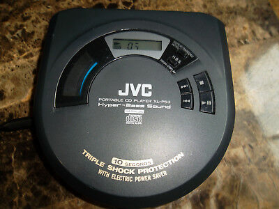 JVC XL-P53 Triple Shock Protection Hyper-Bass Sound Portable CD Player TESTED