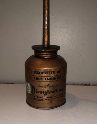 "1960's DISNEYLAND RAILROAD ""CHIEF ENGINEERS' OIL CAN"" BY EDDY MFG. CO.-RESTORED!"