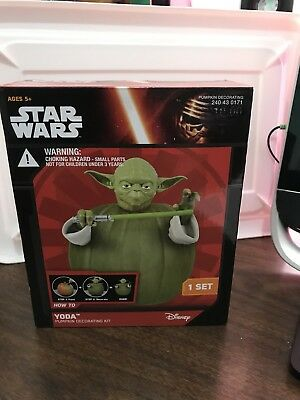 Star Wars Yoda Pumpkin Decorating Kit Brand New