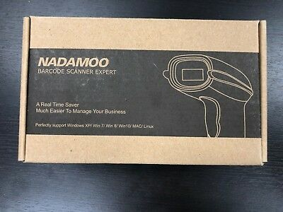 Nadamoo 2-in-1 (2.4GHz Wireless & USB Wired) Barcode Scanner, RECHARGEABLE, POS