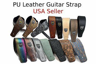 Guitar Strap Leather PU Plastic Adjustable Acoustic Electric Bass Skin Sparkle