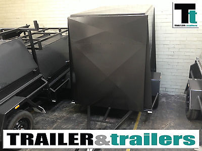 8x5 SINGLE AXLE 5FT HIGH FULLY ENCLOSED VAN/CARGO TRAILER + NEW WHEELS AND TYRES
