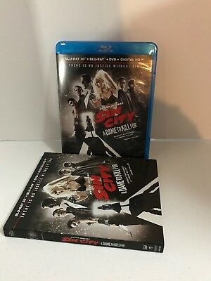 Frank Millers Sin City: A Dame to Kill For (Blu-ray/DVD, 2014, 3-Disc Set,...