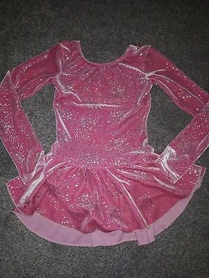 Figure skating dress, mondor age 7-8 small fit. Excellent condition, worn twice!