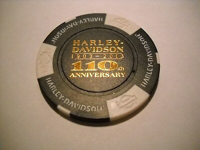 110th Anniversary Harley Davidson Poker Chip Stormy Hill (Clermont)