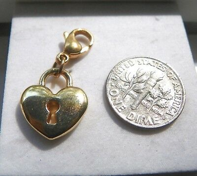 Origami Owl Gold Heart with Keyhole Dangle Retired NEW