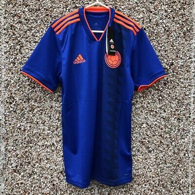 Authentic Adidas Colombia World Cup 2018 2019 Away Football Shirt Columbia L