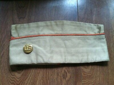 Vintage US Army Overseas Garrison Cap With Insignia