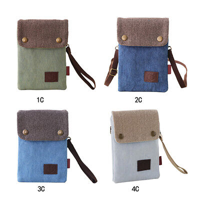 Canvas Small Cute Crossbody Cell Phone Purse Wallet Bag with Shoulder Strap US