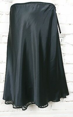 Pea in a Pod Maternity Skirt Evening Black Satin  NEW RRP $89.95 Size 10