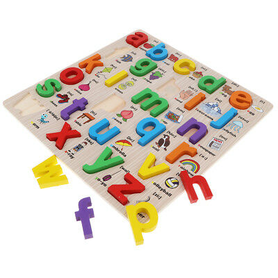 abc Alphabet Animal Kids Educational Toy Wooden Jigsaw Child Letter Puzzle