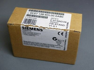 SIEMENS SIMATIC S7 Positionierungsmodul 6ES7 138-4DL00-0AB0 E-Stand: 4 (5423A)