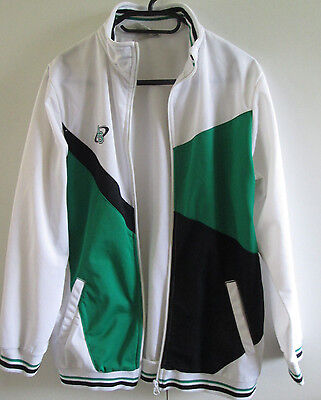 Actions Sports Size 14 Zipper Front Jacket Long Sleeve Green Black White Sport