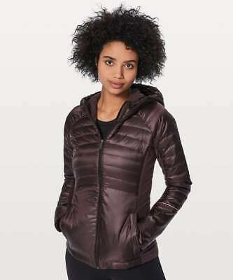 Lululemon Women's Down For A Run Jacket II Black Cherry Size 2