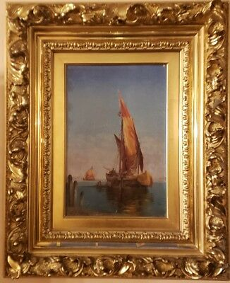 antique oil paintings fine art by Charles Clement Calderon 19th century