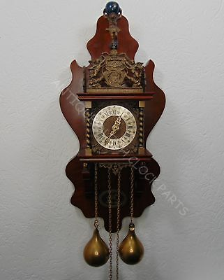 Rare Dutch Zaandam Wall Clock Dirck Jacobz Dokkum