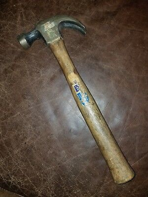 Vintage Wood Handle Great Neck Claw Hammer
